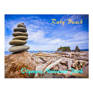 Ruby Beach - Olympic National Park Postcard