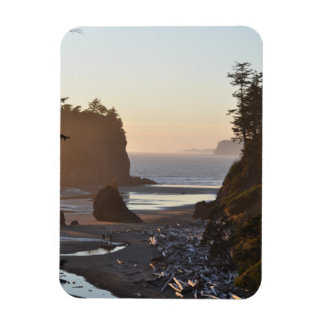 Ruby Beach on the Pacific Ocean Rectangular Photo Magnet