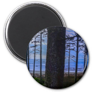Ruby Beach sea shore 2 Inch Round Magnet