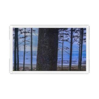 Ruby Beach sea shore Acrylic Tray