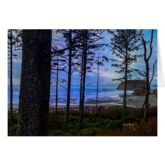 Ruby Beach sea shore Card