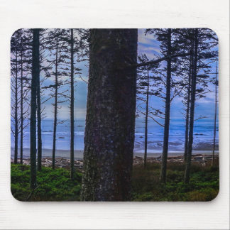 Ruby Beach sea shore Mouse Pad
