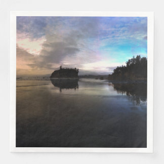 Ruby Beach Sunset   Olympic NP Disposable Napkins