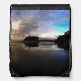 Ruby Beach Sunset | Olympic NP Drawstring Bag