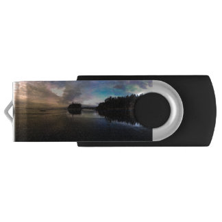 Ruby Beach Sunset | Olympic NP Swivel USB 3.0 Flash Drive