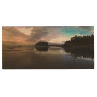 Ruby Beach Sunset | Olympic NP Wood USB 2.0 Flash Drive