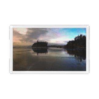 Ruby Beach Sunset Reflection Acrylic Tray