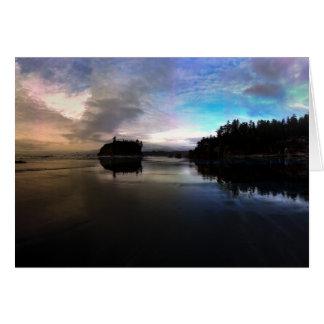 Ruby Beach Sunset Reflection Card