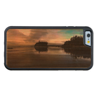 Ruby Beach Sunset Reflection Carved Cherry iPhone 6 Bumper Case