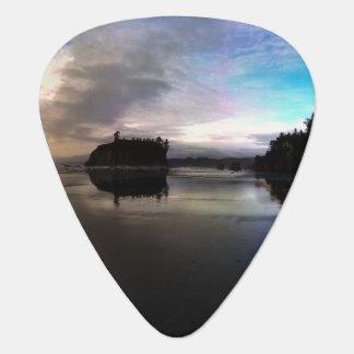Ruby Beach Sunset Reflection Guitar Pick