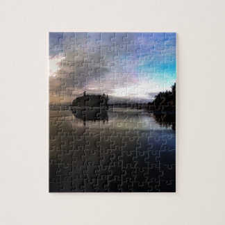 Ruby Beach Sunset Reflection Jigsaw Puzzle