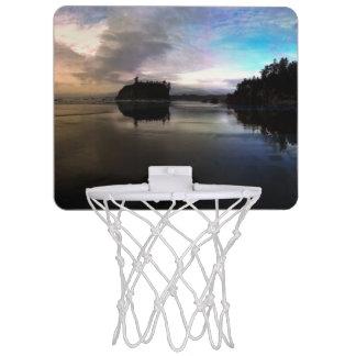 Ruby Beach Sunset Reflection Mini Basketball Hoop