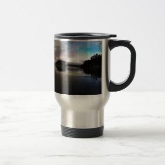 Ruby Beach Sunset Reflection Travel Mug