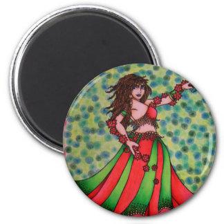 Ruby Belly Dancer Magnet