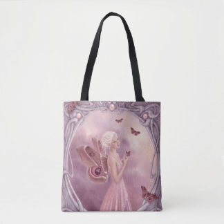 Ruby Birthstone Fairy All-Over-Print Tote Bag