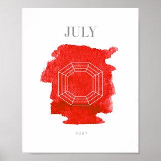 Ruby Birthstone July Poster