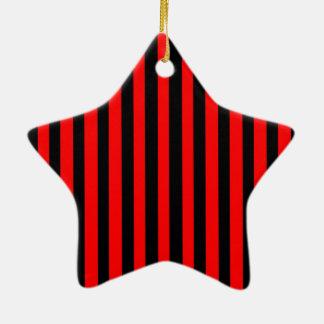 Ruby Black Ceramic Ornament