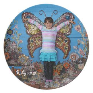 Ruby butterfly plate 2