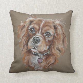 Ruby cavalier king charles spaniel pillow