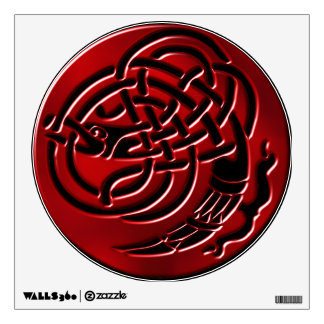 Ruby Dragonknot Black Wall Decal