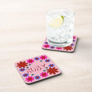 RUBY Flowers Coaster