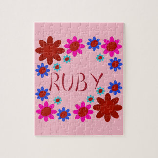 RUBY Flowers Jigsaw Puzzle
