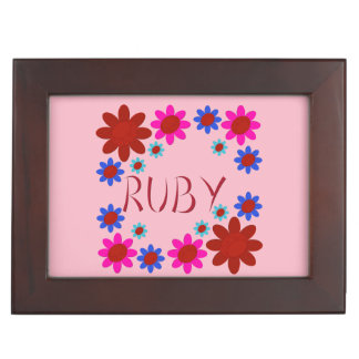 RUBY Flowers Keepsake Box