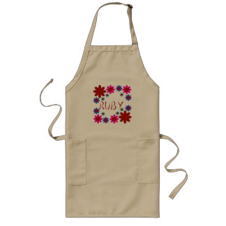 RUBY Flowers Long Apron