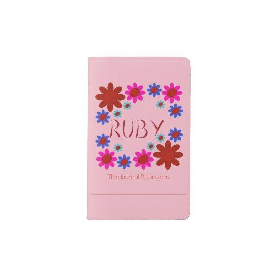 RUBY Flowers Pocket Moleskine Notebook