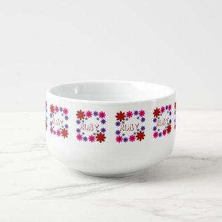 RUBY Flowers Soup Mug
