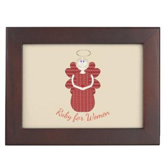 Ruby for Women Red Angel Keepsake Box