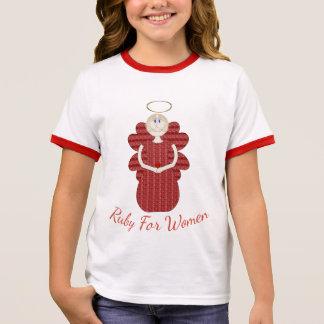 Ruby for Women Red Angel Ringer T-Shirt