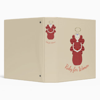 Ruby for Women Red Angel Vinyl Binders
