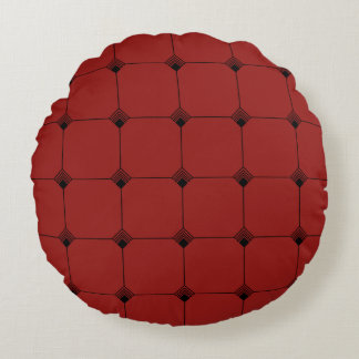 Ruby Geo Jersey Knit Round Pillow