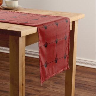 Ruby Geo Jersey Knit Short Table Runner