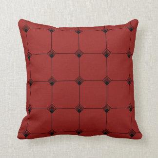 Ruby Geo Jersey Knit Throw Pillow