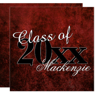 Ruby Grad | Red Garnet Crimson Scarlet Party Theme Card
