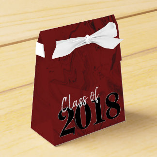 Ruby Graduation | Red Black White Modern Grad Favor Box