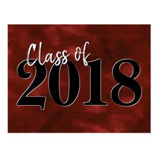Ruby Graduation | Red Black White Modern Grad Postcard