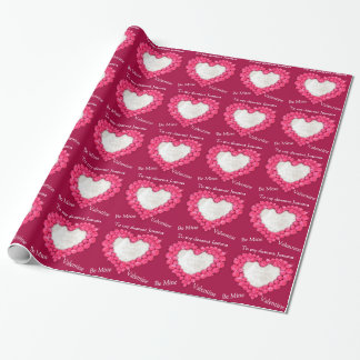 Ruby heart be mine valentine photo wrap wrapping paper