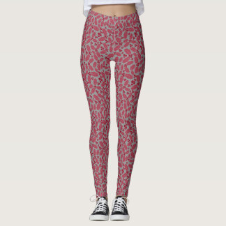 Ruby Holly Berry on Gray Christmas Holiday wear Leggings