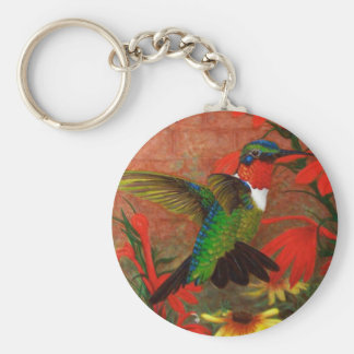 Ruby Hummingbird Keychain