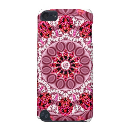 Ruby Jewels Mandala, Abstract Rose Lace iPod Touch 5G Covers