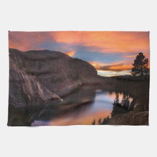 Ruby Lake Sunset - John Muir Trail - Sierra Nevada Hand Towels