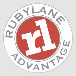 Ruby Lane Advantage - Classic Round Sticker