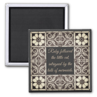 Ruby Lane Book Quote Decorative Border Charcoal Magnet