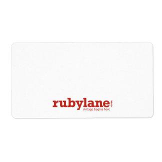 Ruby Lane Large Shipping Labels w/ Logo
