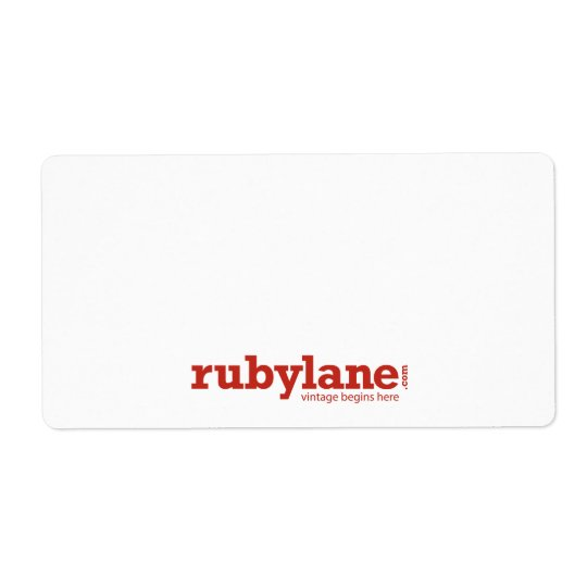 Ruby Lane Large Shipping Labels w/ Logo