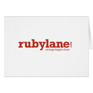 "Ruby Lane Thank you Card -  7"" x 5"""