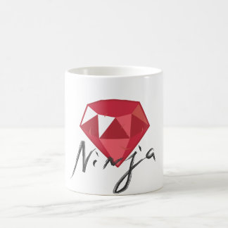 Ruby Ninja Gemstone Geek Coffee Mug